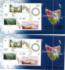 Australia-Tasmania Overprints m/s(2)China & Paris pair mnh-2004