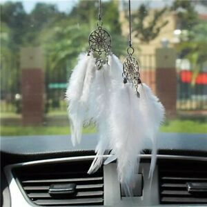 Feather Dream Catcher Car Pendant Rearview Mirror Home Wall Ornament Wind Chimes