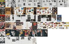 ELVIS PRESLEY : CUTTINGS COLLECTION -5 magazine articles-