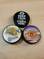 3 Providence Bruins Arena Collection Hockey Puck Boston Bruins Affiliate Team