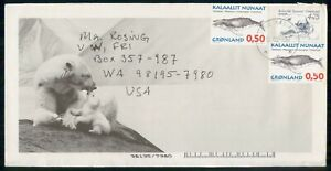 Mayfairstamps Greenland 1997 Whale Block Polar Bears Cover wwm_47657