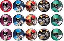 30 Power Rangers Edible  Cake Topper Party Decoration Cupcakes PRECUT