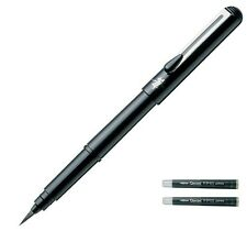 Pentel Portable Pocket Fude Brush Pen with 2 refills XGFKP-A