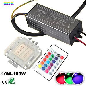 RGB led chip+RGB driver 10W/20W/30W/50W/100W with sensor+24Key remote control
