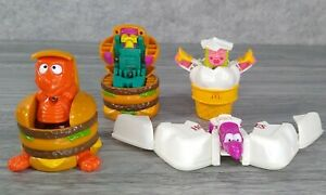 Lot of 4 Vintage McDonald's Changeables Transformers Dinosaur Happy Meal Dinos