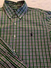 Men's Large, Green Plaid, Ralph Lauren, Button Down, Long Sleeve Shirt