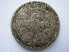 South Africa 1894 Sixpence, NVF.