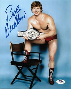 BOB BACKLUND WWF WWE SIGNED AUTOGRAPH 8X10 PHOTO #4 W/ PSA COA