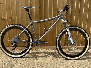 Titanium hard tail mountain bike XTR group set Carbon wheelset