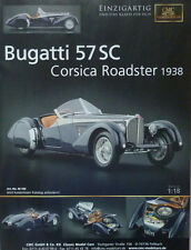 Cmc publicitaria... Bugatti Type 57 SC Corsica roadster en 1-18...... anuncio del periódico