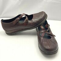 DANSKO Red Leather Mary Jane Cross Strap Shoes Womens Size EUR 40 US 9.5/10