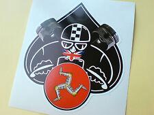 ISLE OF MAN CAFE RACER TT Fans Van Car Bumper Sticker Decal 1 off 95mm