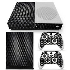 XBox ONE S Slim 3D Metal Mesh Crack Skin Vinyl Sticker Decal Wrap Console new