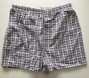 Fruit of the Loom Men's Pajama Lounge Sleep Shorts Red, White & Blue Size Medium