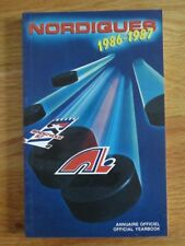 1986-87 QUEBEC NORDIQUES Yearbook MICHEL GOULET Dale Hunter PETER STASTNY