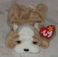 """New 1996 Ty Plush Beanie Babies 8"""" Golden Brown WRINKLES The SHAR PEI Puppy Dog"""