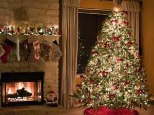 Vintage Christmas Decorations Santa Rudolph Snowman Tree