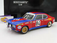 "Minichamps 155728584 # Ford Capri RS 2600 24h Le Mans 1972 "" Shark Team "" 1:18"