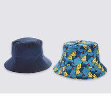 6-12 months Marks /& Spencer reversible blue white sun sea /& surf beach hat solar reflect cap