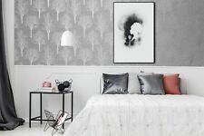 Boutique Charcoal Landscape Textured Floral Wallpaper