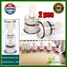 2 Units Cupping Vacuum Twist Suction Body Massage Therapy Anti Cellulite Size M