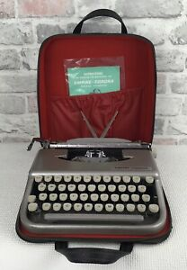 Vintage Empire Corona Typewriter Original Carry Case And User Manual  Pre Owned