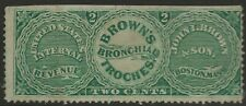 RS 40b-JOHN L BROWN'S 2 CENT MATCH AND MEDICINE STAMP--60