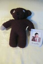 """Mr. Bean's Teddy Plush Crocheted Toy Tiger Television 1996 6 1/2"""" Tags"""