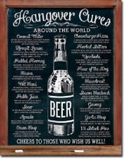 Hangover Cures World Party Beer College Funny Humor Wall Decor Metal Tin  Sign