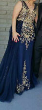 Jovani women party dress Blue and gold color size 8 really good condition