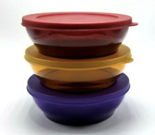 Tupperware Premier Bowls & Seals Set ~ Gem Jewel Rare Ruby Amethyst + Gold New