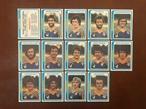1979 Scanlens football cards Parramatta Eels team + checklist NRL EX+