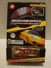 Action Texaco Need For Speed Porsche CD Game W/ #28 Ricky Rudd Car 1:64 44-78