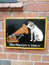 HMV enamel sign His Master's Voice porcelain sign gramophone company