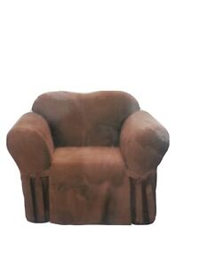 SureFit Soft Suede Chocolate Chair Slipcover