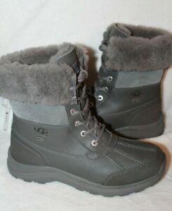 NEW UGG Women's ADIRONDACK II Leather Winter Waterproof Boots Gray