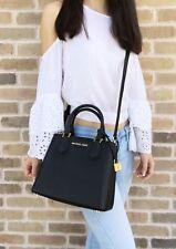 Michael Kors Adele Mercer Medium Messenger Bag Black Dark Khaki Small Satchel