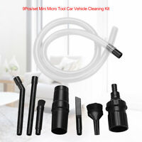9Pcs Mini Micro Tool Car Vehicle Cleaning Kit Universal Vacuum Cleaner Accessory