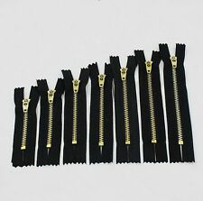 Black Nylon Zips Closed End Auto Lock for Sewing Crafts Zippers 7-18cm