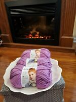 Lion Brand Hometown USA Yarn, Palm Bay Orchid, Three (3) Skeins Brand New