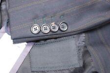 Amazing PRADA men's black pinstripe double breasted suit EU 48S US 36S 38S
