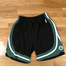 Men's Adidas Boston Celtics NBA Authentic Green Black Logo Shorts Mens Sz Large