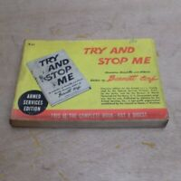 R-31 Try and Stop Me Bennett Cerf  WW2 Armed Services Edition Book Misprint
