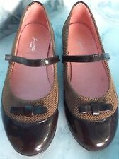 Jacadi Paris Girl Dress Shoes Brown Size 34