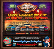 PRE ORDER - DUE LATE SEPT -  HOLDEN HT MONARO GTS 50 YEARS 3mx1m  FABRIC BANNER