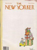 DEC 11 1978 NEW YORKER magazine FORKLIFT CHRISTMAS PRESENTS