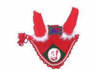 Christmas Fly Veil / Horse Ear Bonnet / XMAS
