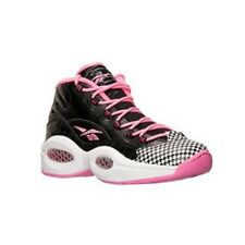 09ac5e72191 Reebok Question (BLACK ELECTRO PINK WHITE) Grade School Kids Shoes M43987