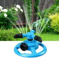 360 Rotating Watering Sprinkler System 3 Arm Garden Lawn Irrigation Device Tool
