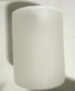 Pottery Barn Pre-Lit Frosted Glass Cylinder White Small NEW